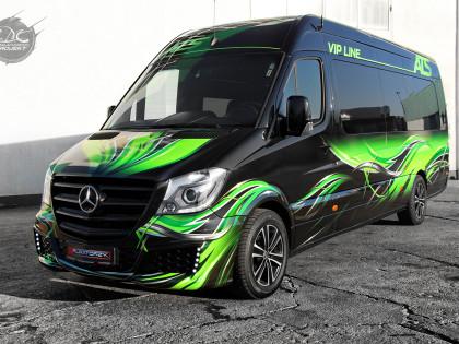 Vehicle wrap design and logo ATS VIP LINE