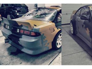 Vehicle wrap design for KOI Drift Team