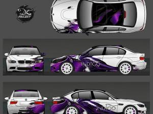 Projekt grafiki oklejenia dlar BMW M3