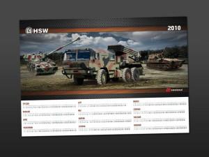 Militarny kalendarz oraz folder