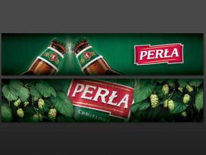 Materiały promocyjne piwa Perła – Browary Lubelskie
