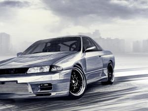 Cyfrowy rysunek Nissana Skyline R32