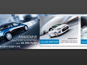 Banner reklamowy dla salonu Mazdy