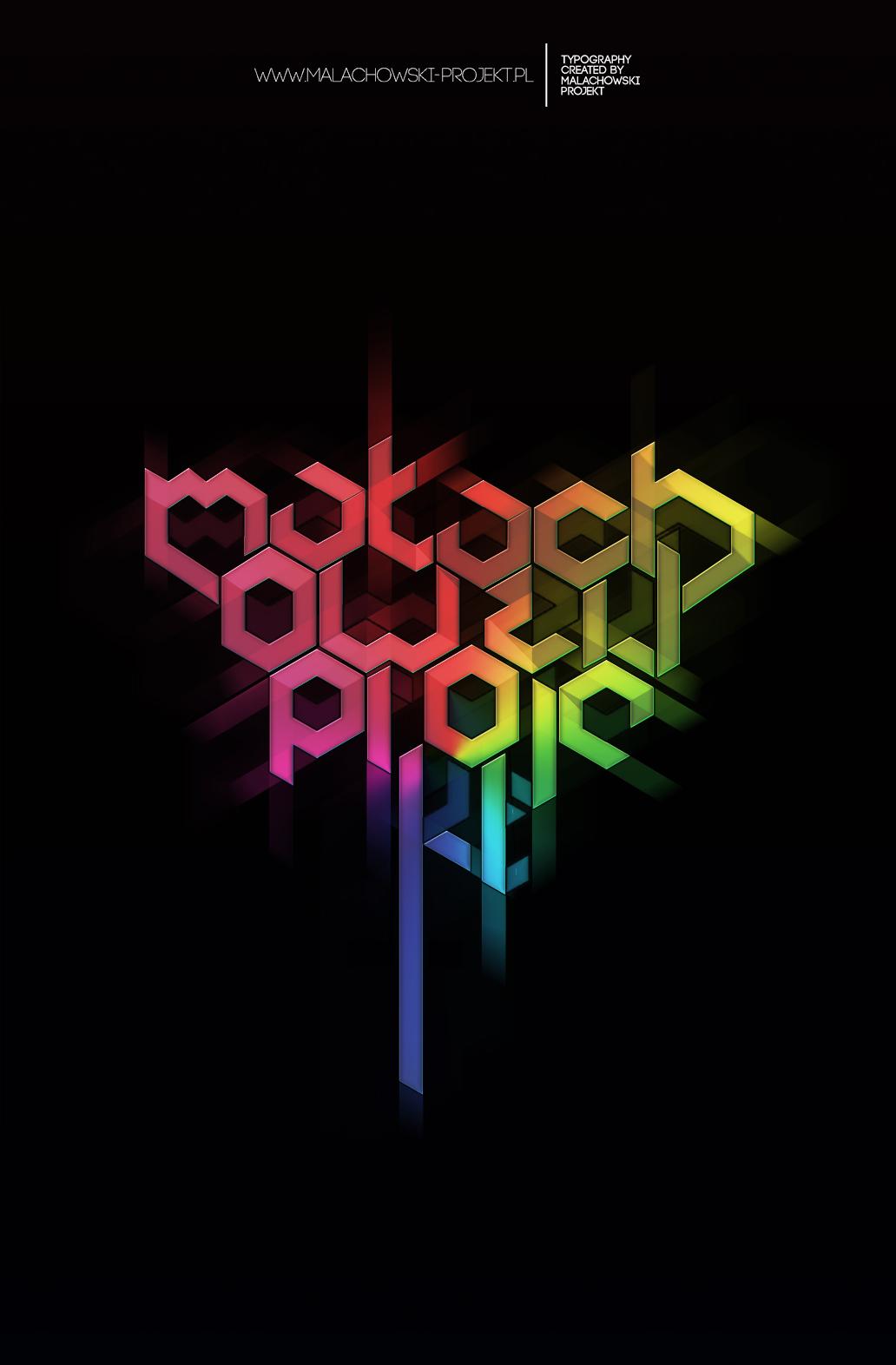 typografia kolor