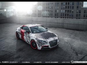 Projekt oklejenia Audi TTS.