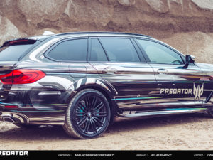 Projekt oklejenia BMW m-performane dla Acer Predator