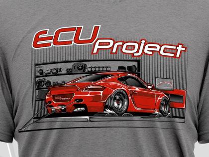 Projekt koszulki dla ECU Project