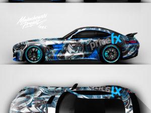 """Projekt oklejenia Mercedes GT-R, kierowca """"STIG"""""""