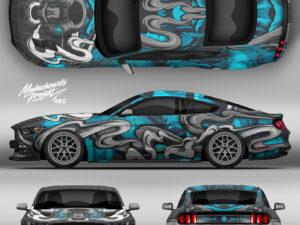 Projekt oklejenia Ford Mustang BYK
