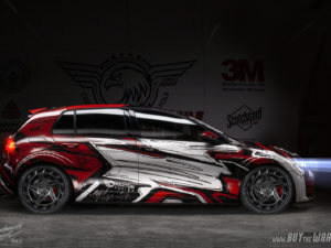 Projekt oklejenia Golf GTI (drawing wrap)