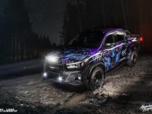 Projekt oklejenia Toyota Hilux – samurai warrior