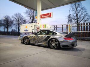 Porsche 911 Turbo , projekt oklejenia ploterowego